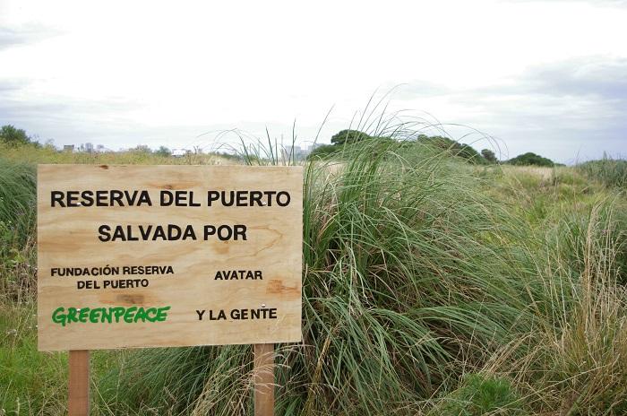 """Reserva del Puerto: colocaron un cartel que afirma que fue """"salvada"""""""
