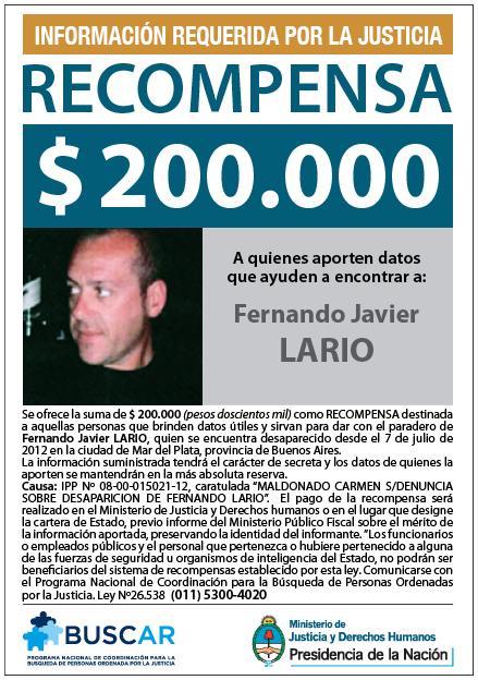 Fernando Lario Recompensa
