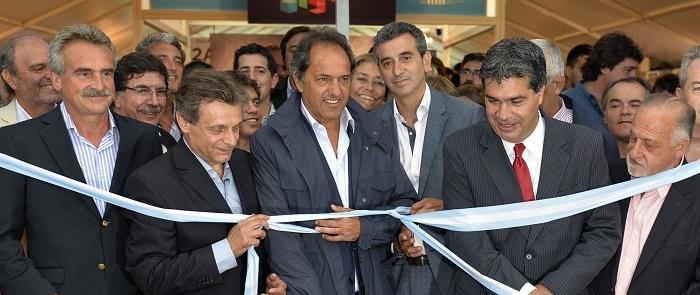 Scioli y Randazzo juntos, en la apertura de la Expo Industria