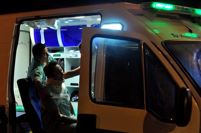 Noche accidentada: choques, vuelco y heridos
