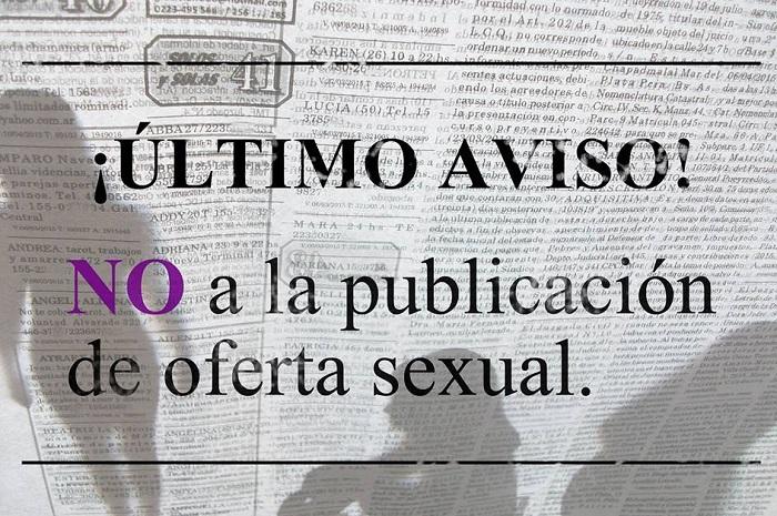 Lanzan campaña contra la publicación de avisos sexuales