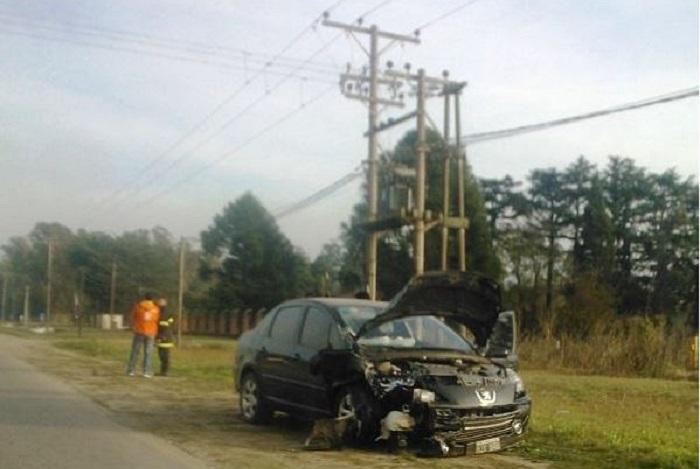 Conductor ebrio causó fuerte choque en Ruta 88: dos heridos