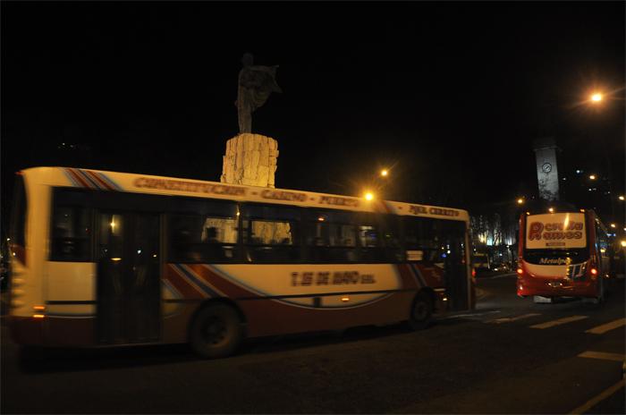 Cuarto día de paro nocturno de colectivos