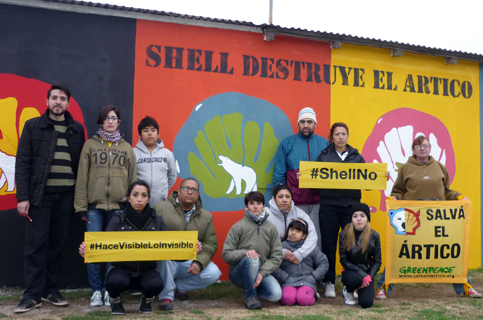 """Greenpeace: murales para """"hacer visible lo invisible"""""""