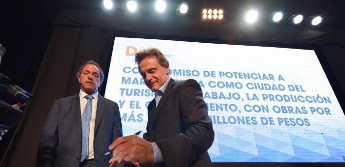 """Pulti y Scioli prometen """"repotenciar"""" el Puerto"""