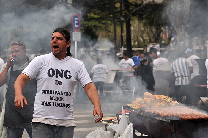 "Choripaneros en alerta: ""Si no hay solución nos vamos a plantar"""
