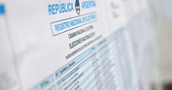 Elecciones 2017: ya se puede consultar el padrón provisorio
