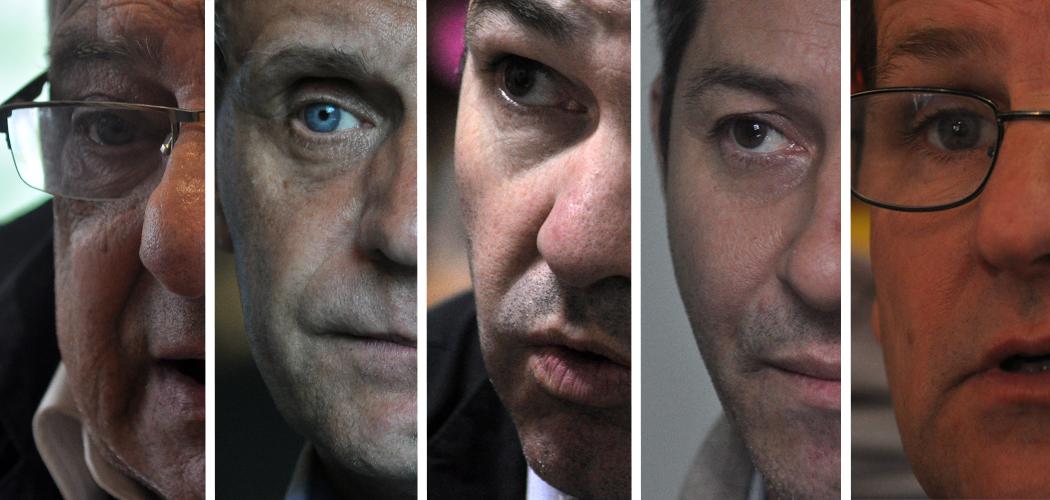 Cinco candidatos se disputan la intendencia