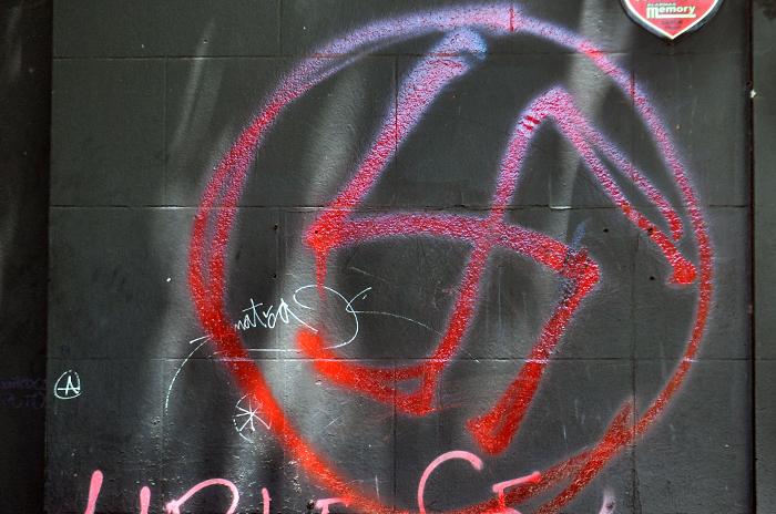 Las pintadas nazi denunciadas fueron removidas