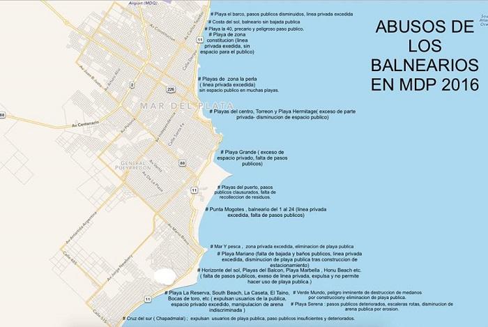 Mapa incumplimiento playas