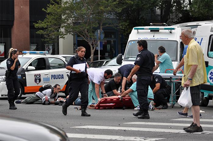Colón e Independencia: un choque y tres personas heridas