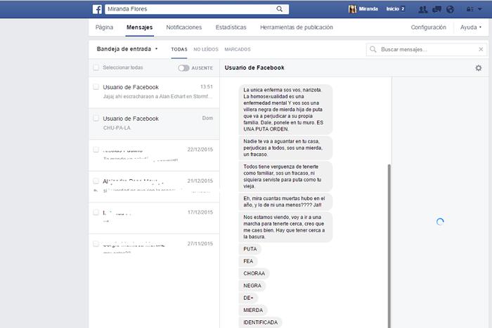 Amenaza neonazis Facebook Miranda Flores1
