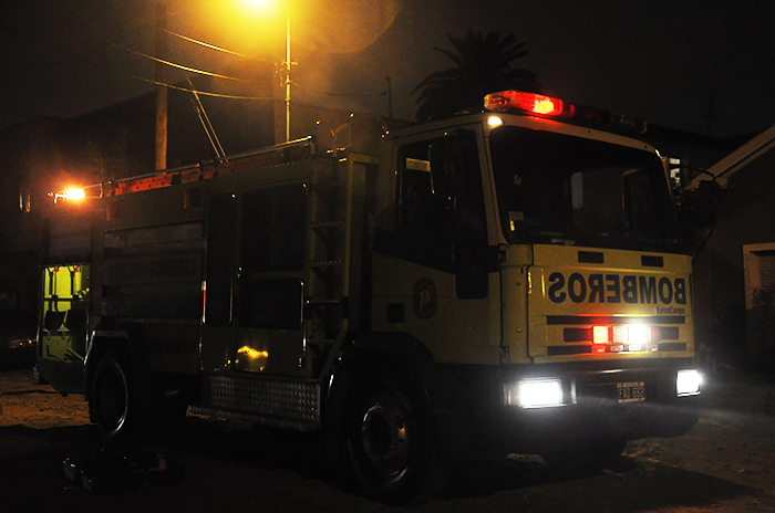Se incendió una casa en Jara y Almafuerte: no hubo heridos