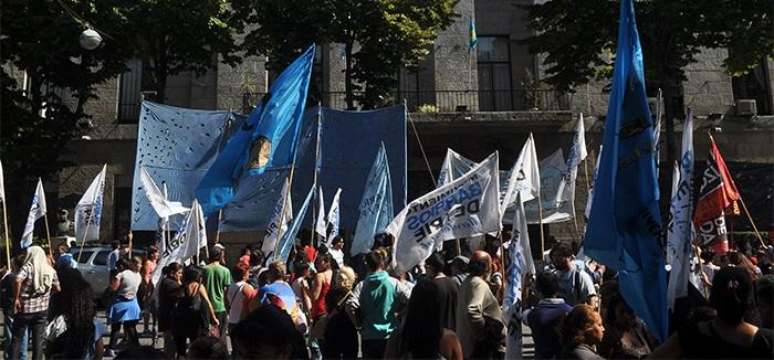 Protesta de cooperativas contra la precarización laboral