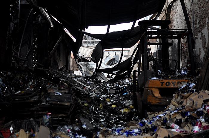 Incendio en Caromar: pericias, guardia y escombramiento