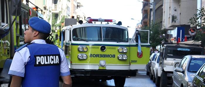 Se incendió un departamento en San Luis y Rivadavia