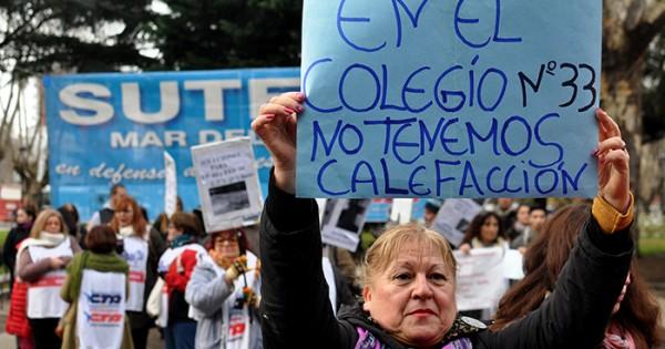 """""""Al menos 30 escuelas no tienen calefacción en Mar del Plata"""""""