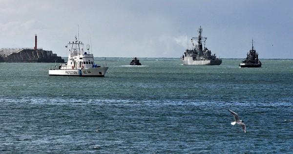 Se hundió un buque marplatense que pescaba en Rawson