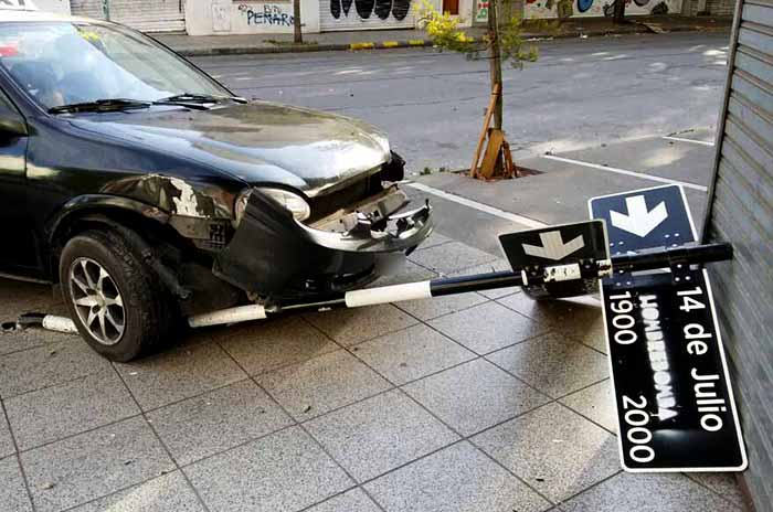 Taxista alcoholizado protagonizó un accidente de tránsito