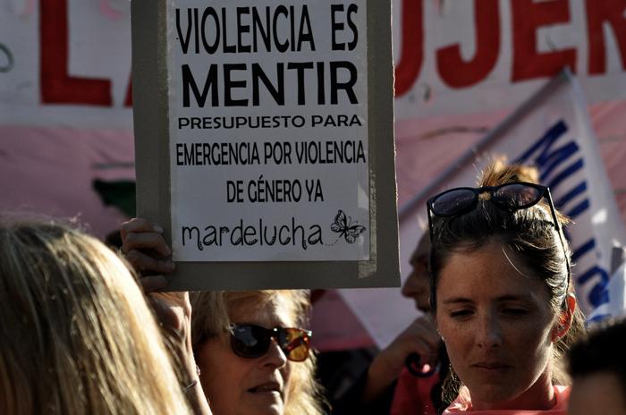 Violencia de género: protesta para aplicar la emergencia