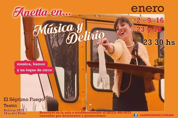 [teatro] MAGNÍFICO, MÚSICA Y DELIRIO @ El Séptimo Fuego | Mar del Plata | Buenos Aires | Argentina