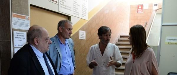 """Arroyo y Vidal visitaron las obras del HIGA: """"Van muy avanzadas"""""""