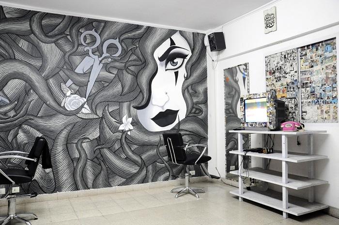 Mematasteloca dise o rock y vanguardia qu digital - Decoracion en peluquerias ...