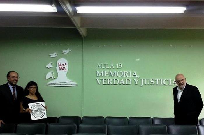 """Alumnos de Derecho ya tienen el aula """"Memoria, Verdad y Justicia"""""""