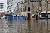 Diluvio en Mar del Plata: el Puerto bajo agua