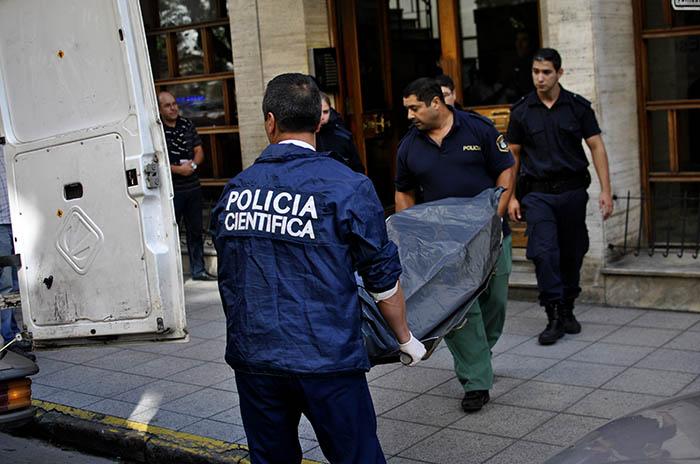 HOMICIDIO EDIFICIO CORRIENTES POLICIA CIENTIFICA 00