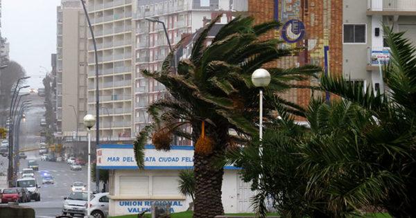 Está vigente un alerta meteorológico por vientos fuertes en Mar del Plata