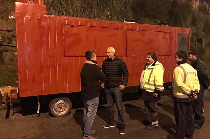 """Secuestraron otro food truck: """"Vamos a montar una guardia"""""""
