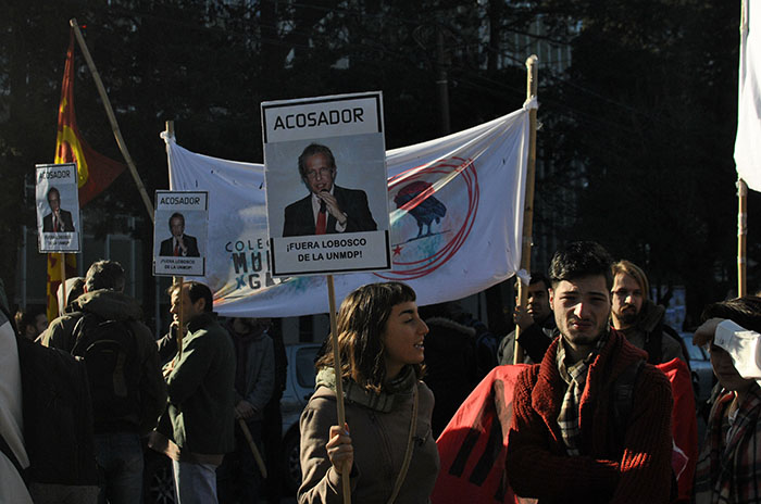Protesta en la Universidad por las denuncias de acoso