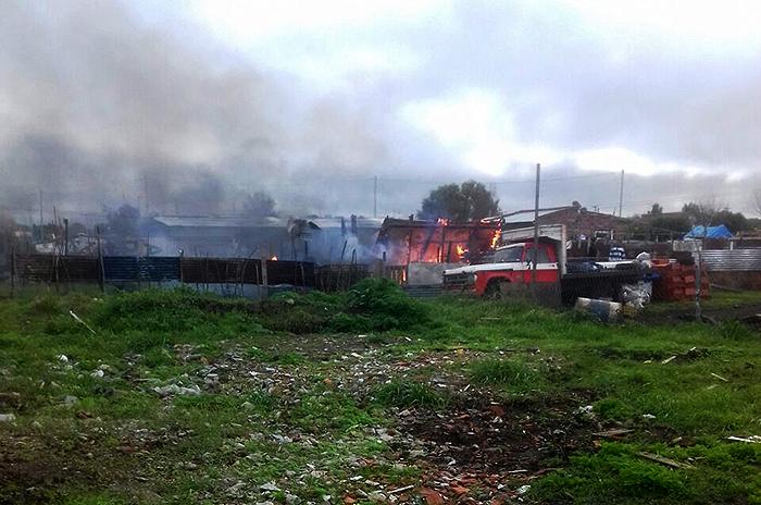 Incendio en La Herradura: una beba, herida de gravedad