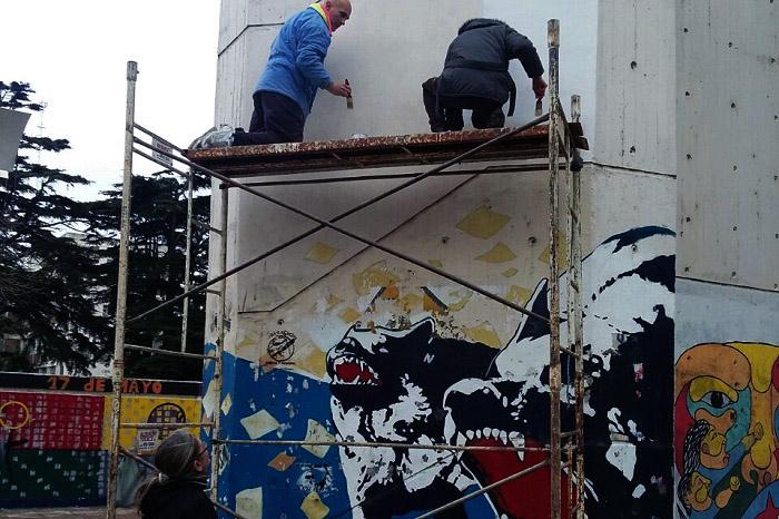A 5 años de su desaparición, un mural por Fernando Lario