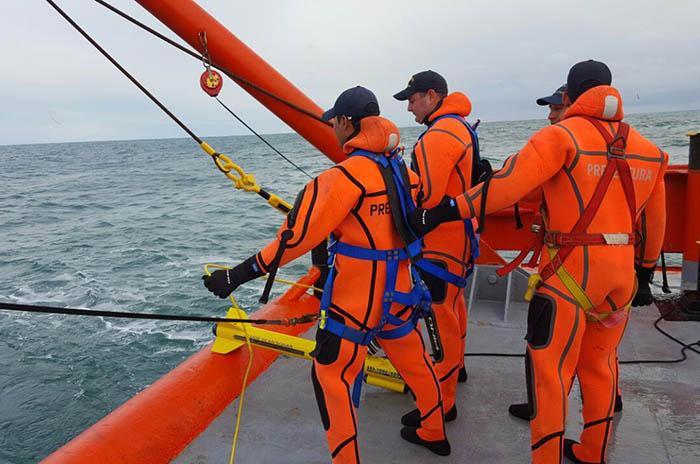 Repunte: Prefectura encontró el casco durante la búsqueda