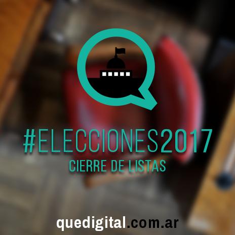 Elecciones 2017 - Cierre de listas