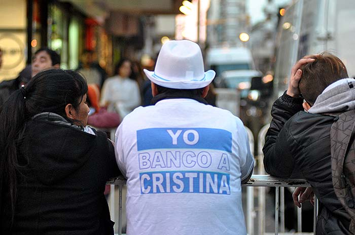 El acto de Cristina también se vivió en las calles