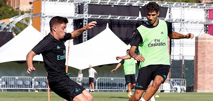 Feuillassier comenzó la pretemporada con el Real Madrid