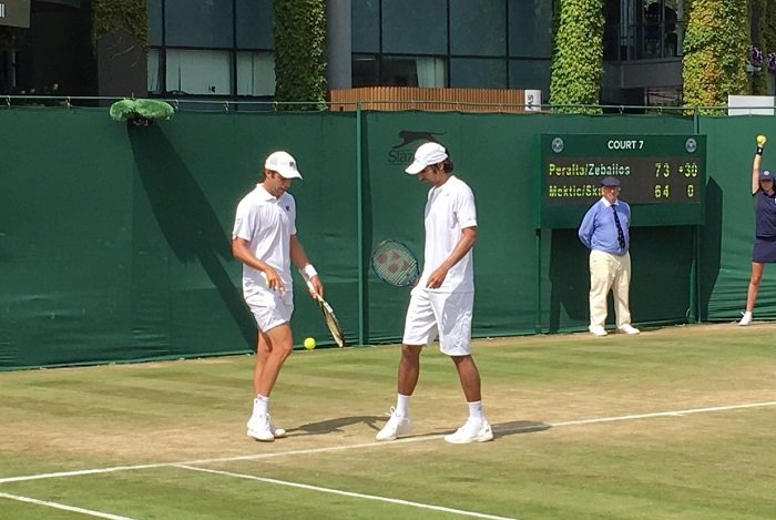 Wimbledon: Zeballos, eliminado también en dobles