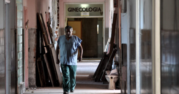 Blanco recorrió las obras del Hospital Interzonal