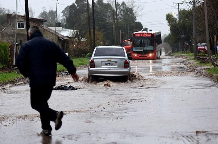 Otra vez lluvia, otra vez barrios anegados en Mar del Plata
