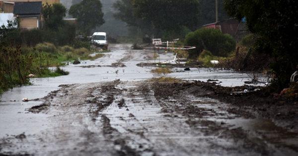 El norte de la ciudad, también intransitable por la lluvia
