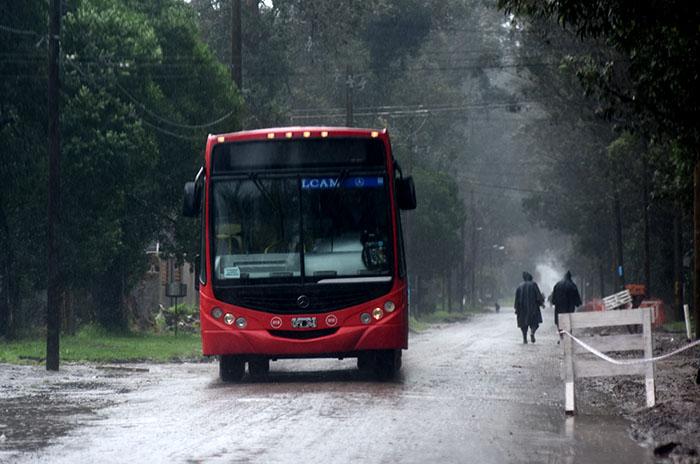Valle Hermoso: por el estado de las calles, el 525 no entra al barrio