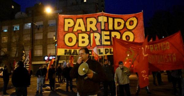 Denuncian la detención de militantes del PO por una pintada