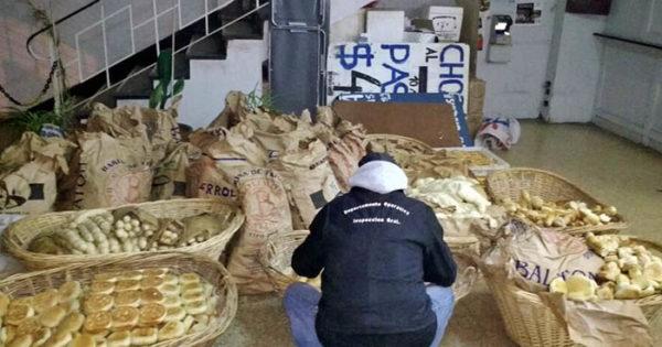 Clausuran panadería clandestina y secuestran 700 kilos de pan