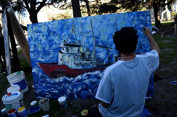 A cuatro meses del Repunte, un mural en homenaje a las víctimas