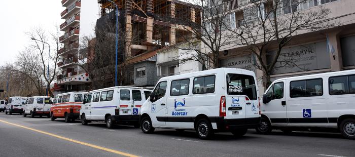Otra protesta de transportistas por las deudas de obras sociales