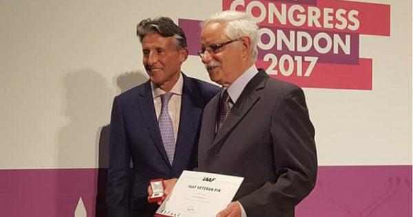 Rubén Aguilera fue reconocido en Londres por su trayectoria