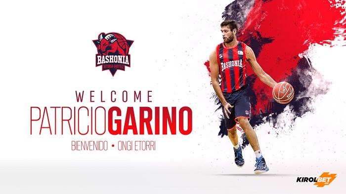 Luego de su paso por la NBA, Patricio Garino jugará en Baskonia